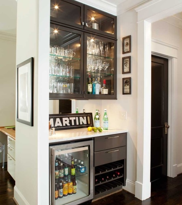 Small Wet Bar... Perfect Beer Fridge