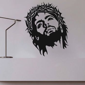 jesus wall design and wall decals on pinterest. Black Bedroom Furniture Sets. Home Design Ideas