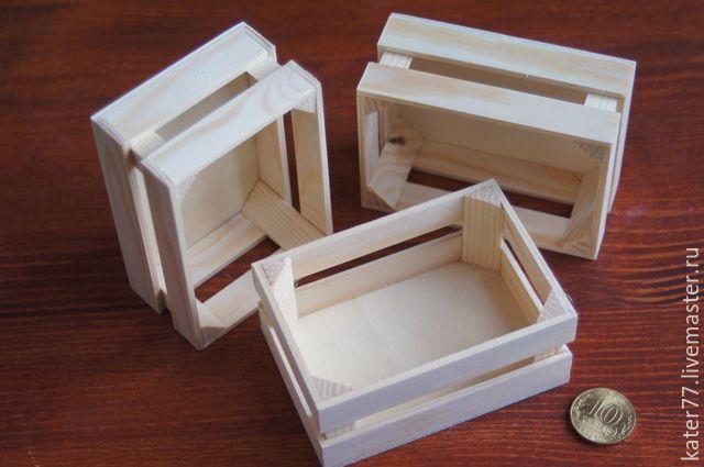 Купить Ящик для миниатюр (3 шт) - ящик для игрушек, ящик для овощей, ящик для фруктов