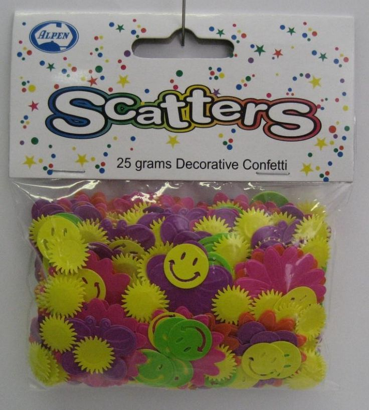 Mixed Neon Smiles Scatters.  Brighten your Party Table with these bright mixed smiles scatters!  These are fun!     cost is per 25gm bag