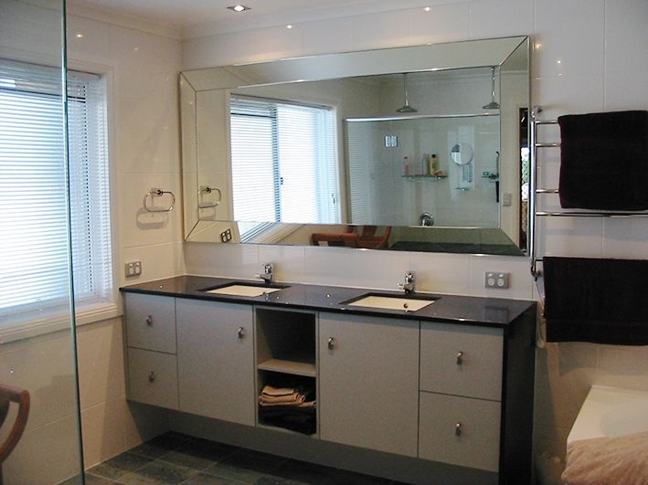 Wide Bevel Bathroom Mirror