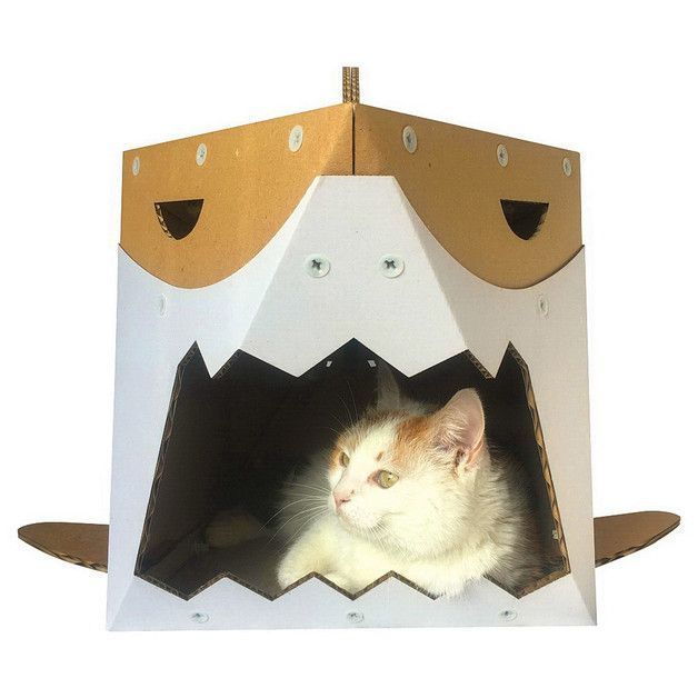 Cat Beds – Shark Cardboard Cat House – a unique product by Cacaopets on DaWanda