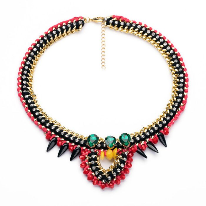 Fashion Jewelry New Arrival 2014 Women Hawaiian Necklace Indian Chandelier Frozen Necklace