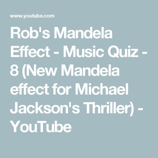 Rob's Mandela Effect - Music Quiz - 8 (New Mandela effect for Michael Jackson's Thriller) - YouTube