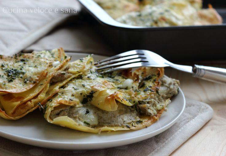 CREPES AI CARCIOFI, RICOTTA E CRUDO ~ Facili da preparare e molto gustose, adatte per il pranzo della Domenica con tutta la famiglia.