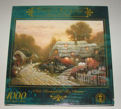 NEW-THOMAS-KINKADE-Painter-of-Light-Olde-Porterfield-Tea-Room-Puzzle-1000-Pc #thomaskinkade #puzzle #scenery #1000pieces