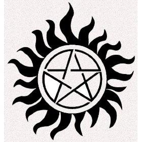 Supernatural Pentagram Tattoos, Set Of Five