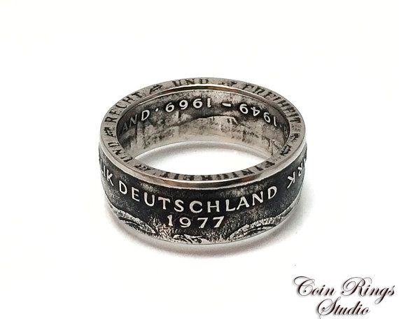 Germany Coin Ring  German 2 Marks  Handcrafted by CoinRingsStudio