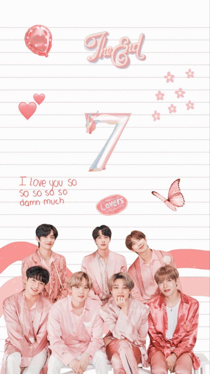Bts Bangtan Yoongi Suga Rm Namjoon Jimin Jungkook Jin Seokjin V Taehyung Hobi Hoseok Jhope Wallp Pink Wallpaper Shop Wallpaper Pastel Wallpaper