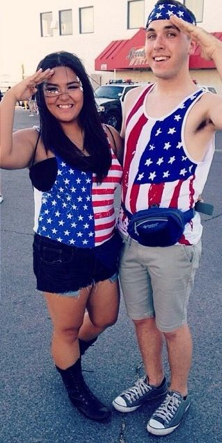 American Flag Themed Couples Outfits