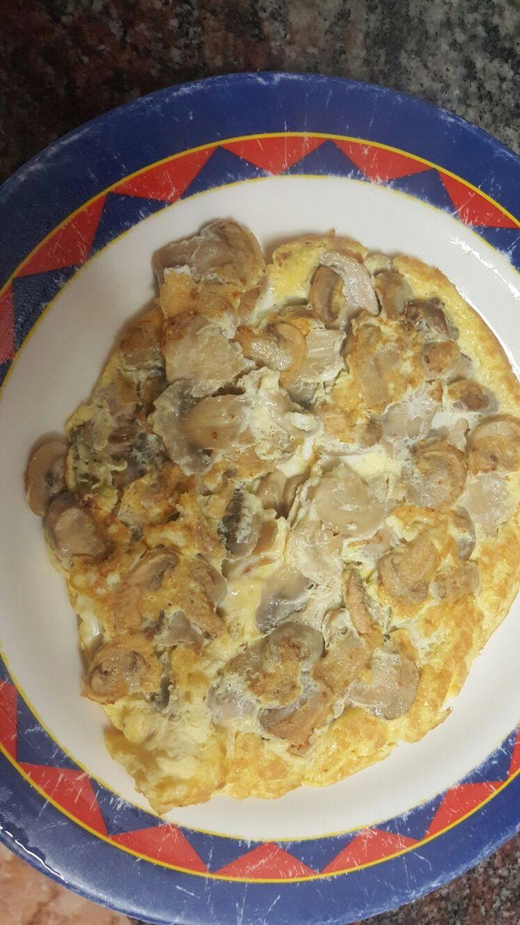 tortilla de champiñones