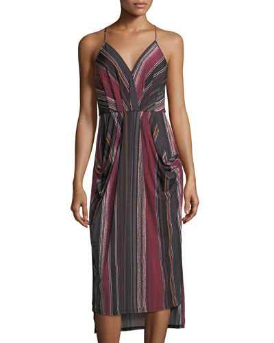 Faux-Wrap High-Low Dress