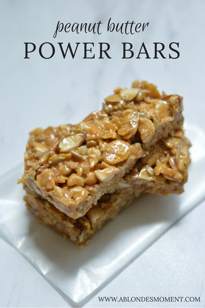 Peanut Butter Power Bars: A healthy pre-workout or post-workout snack.