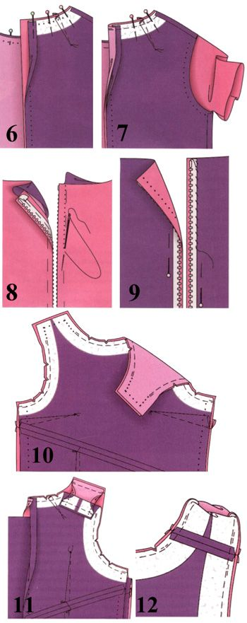 How to sew the lining to the dress