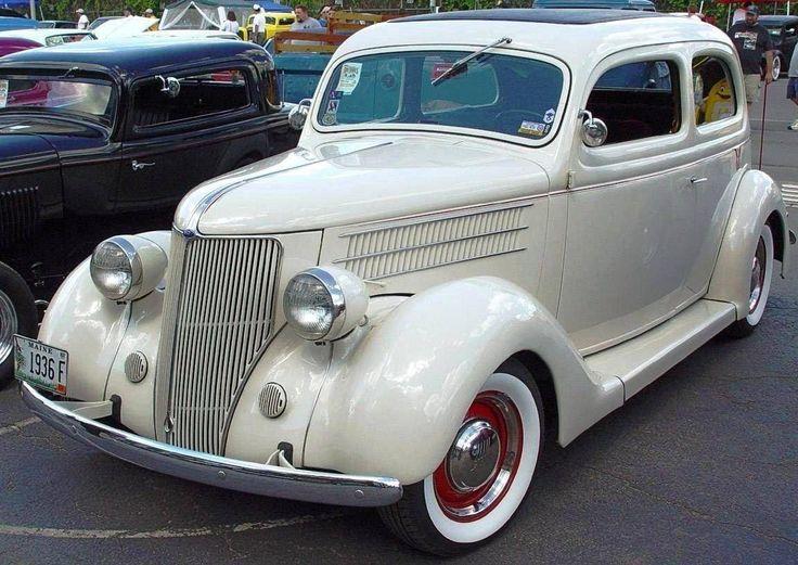 1936 Model ~ Ford White Car