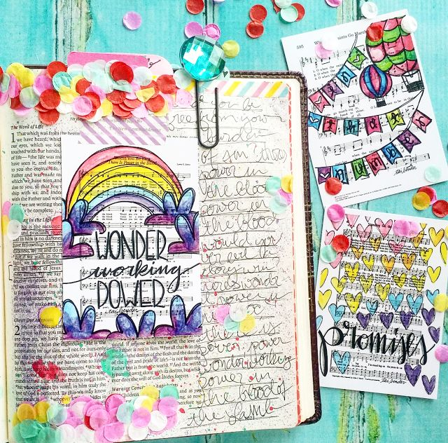 Wonder Working Power! Bible Journaling 1 John Chapter 1 Journaling Cards and Confetti Tape! Life 1 John 1 Walking in the Light Power in the Blood Project Journaling Cards Growing Meadows Tai Bender