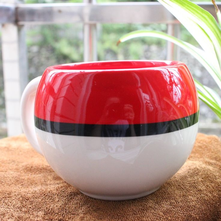Cute Poke Ball Figural Ceramic Mug Pokemon Handgrip Cartoon Funny Mugs Water Bottle Cup Adult Kids. Click visit to buy #Mug
