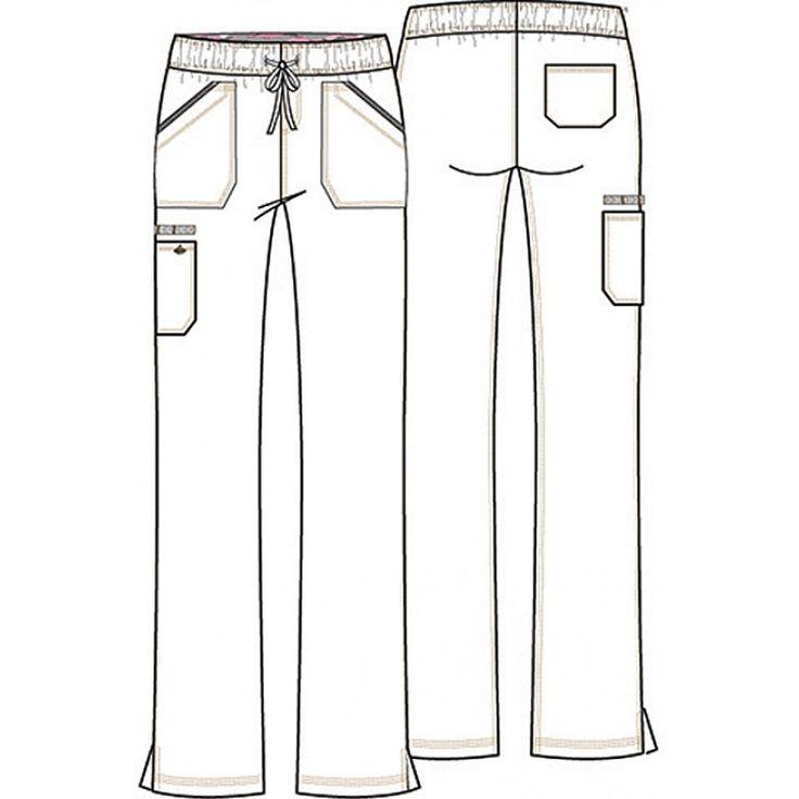 gray anatomy scrub patterns for sewing | Dickies Mid Rise Straight Leg Drawstring Pant #DK106T - Dickies TALL Scrub Pants - Pants ...