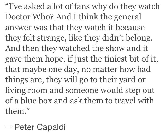 Doctor Who gives us hope