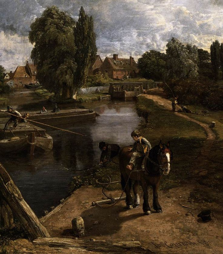 Flatford Mill (detail) by John Constable