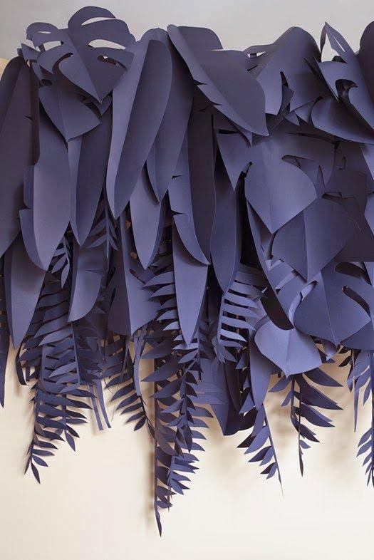 Blue Paper Plants : Arper Bardi Bowl Chair Event at Spotti Milano