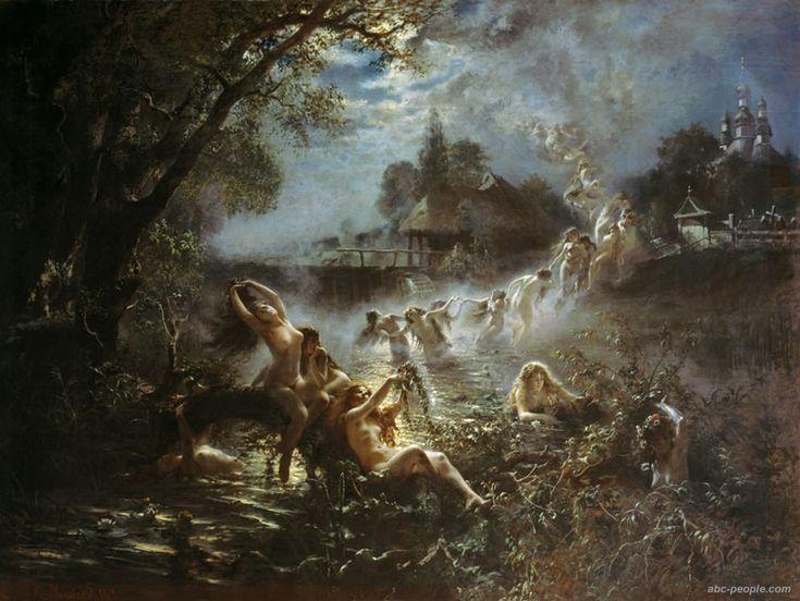 """Русалки"" Маковский Константин Егорович. 1879"