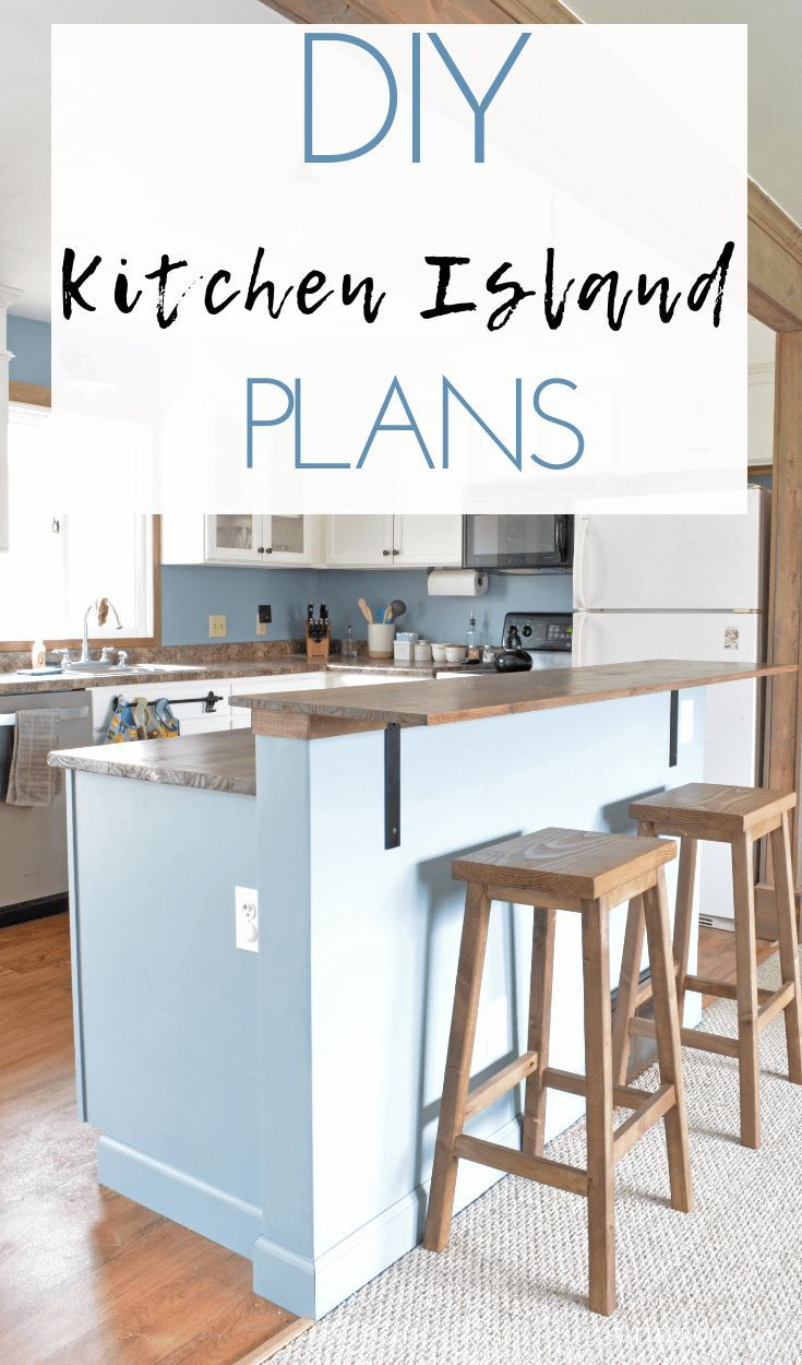 Diy Kitchen Island With Breakfast Bar Plans From Bitterroot Diy Kitchen Island Bar Diy Kitchen Renovation Kitchen Diy Makeover Portable kitchen islands with breakfast bar