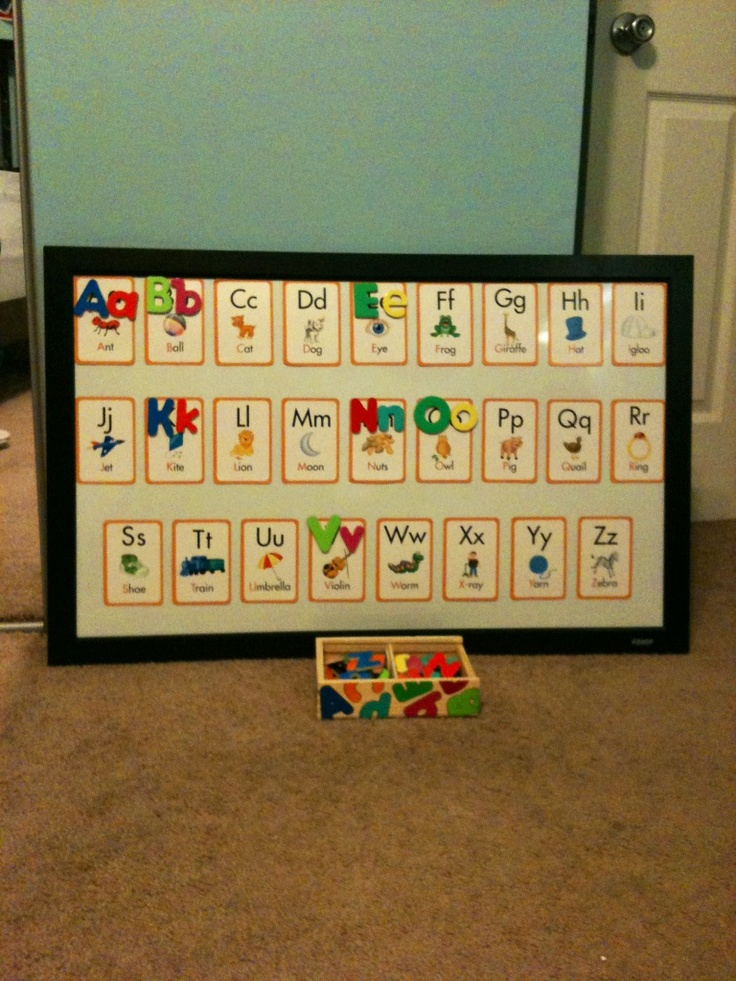 Toddler Alphabet Magnet Board Matching Activity Match