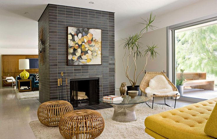 Mid-Century and modern elements mix beautifully