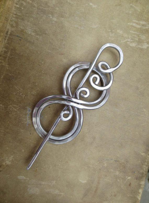 BooKnits Aluminum Shawl Pin Scarf Pin by nicholasandfelice