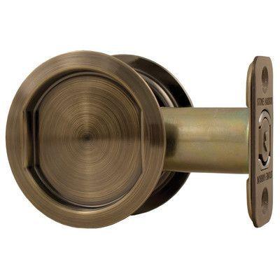 Stone Harbor Hardware Round Pocket Door Latch Finish: Antique Brass