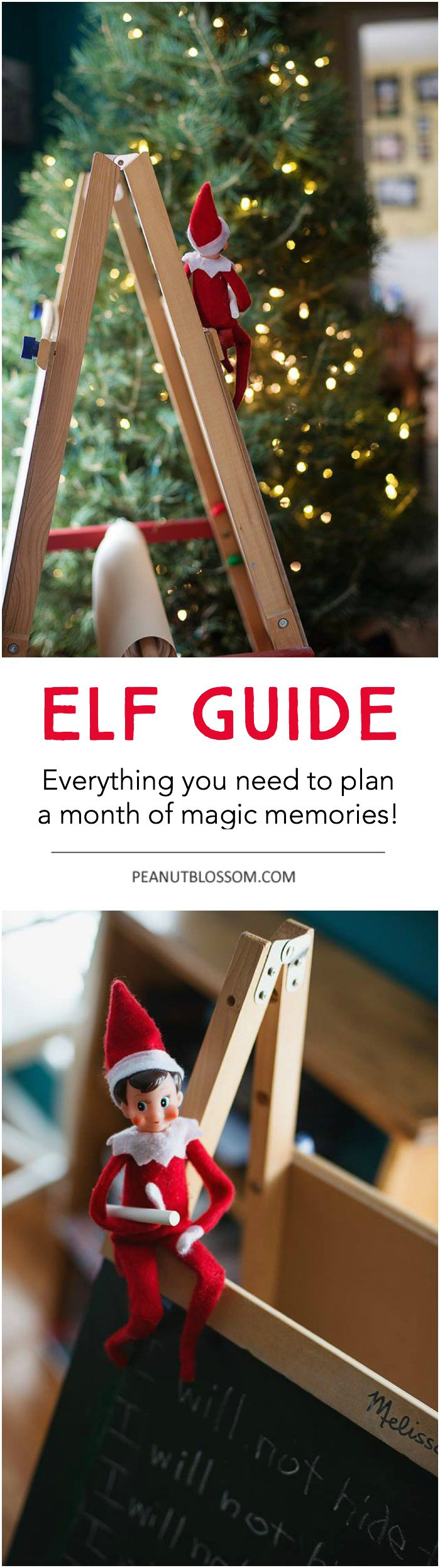 The ultimate checklist of Elf on the Shelf ideas. 40 creative but easy things to do for festive fun this holiday season. #elfontheshelfideas #christmasfun