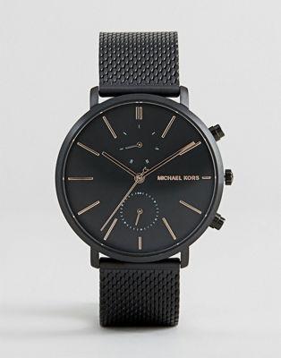 Черные часы с сетчатым браслетом Michael Kors Jaryn MK8503