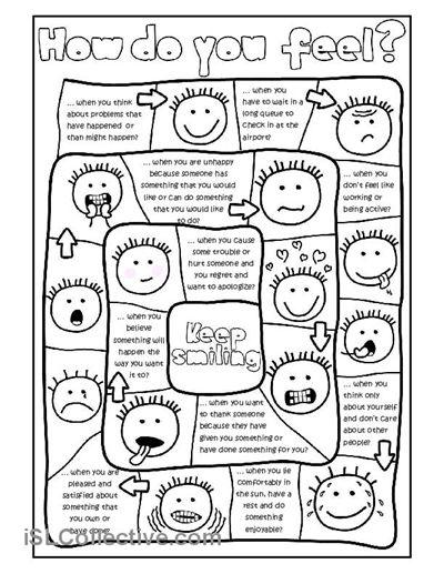 How do you feel? - board game worksheet