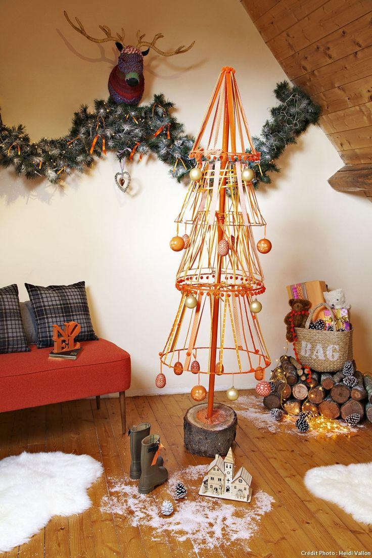diy des sapins de no l originaux deco noel pinterest sapin abat jour et sapin de noel. Black Bedroom Furniture Sets. Home Design Ideas