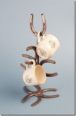 Horseshoe mug tree by Bar 18 Creations | Lizzy  Me Western Decor