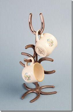 Horseshoe mug tree by Bar 18 Creations   Lizzy  Me Western Decor
