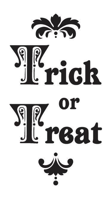 Trick or Treat Halloween STENCIL 8\