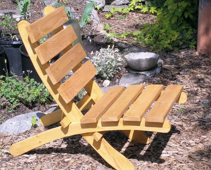 Cedar Folding Chair for Garden, Deck and Patio - (color natural cedar tones). $138.00, via Etsy.