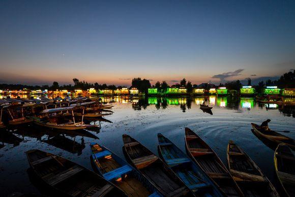 Dal Lake after sunset