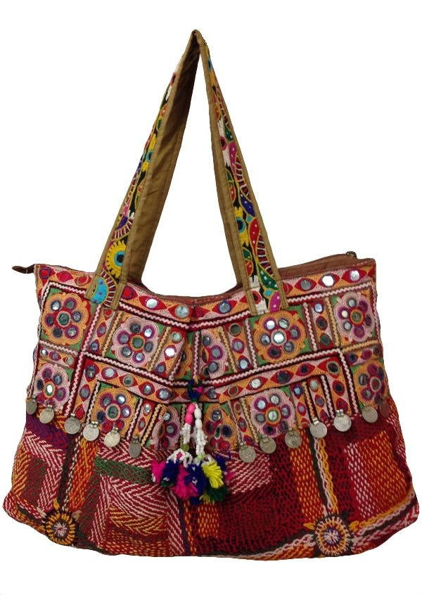 Karma East - Vintage Banjara Bag Fine embroidery