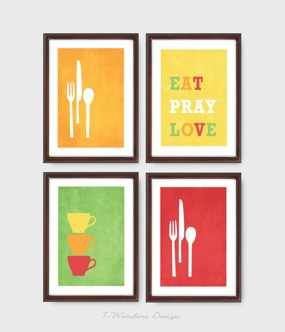 Yellow Kitchen Art: 260 Best Blue, Red, Yellow & Green Images On Pinterest