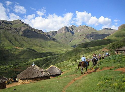 "Lesotho pony trek - that was an amazing experience :)  My pony was called Tepo, which means ""thunder"""