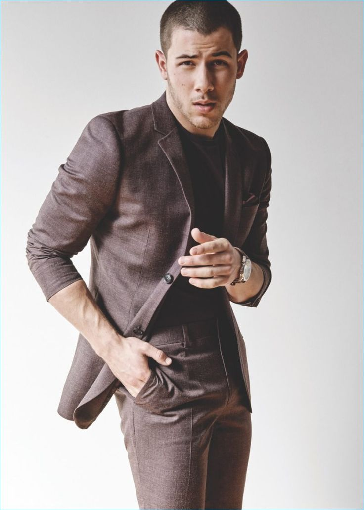 Nick Jonas suits up in Topman for the label's latest magazine issue.