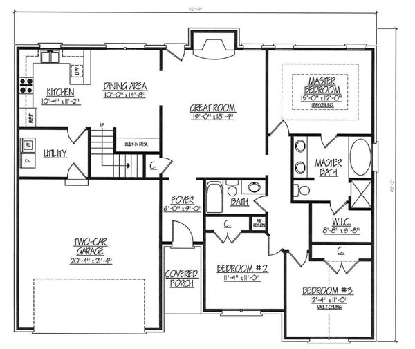 Ranch house plans with bonus room house plan 2017 for Ranch floor plans with bonus room