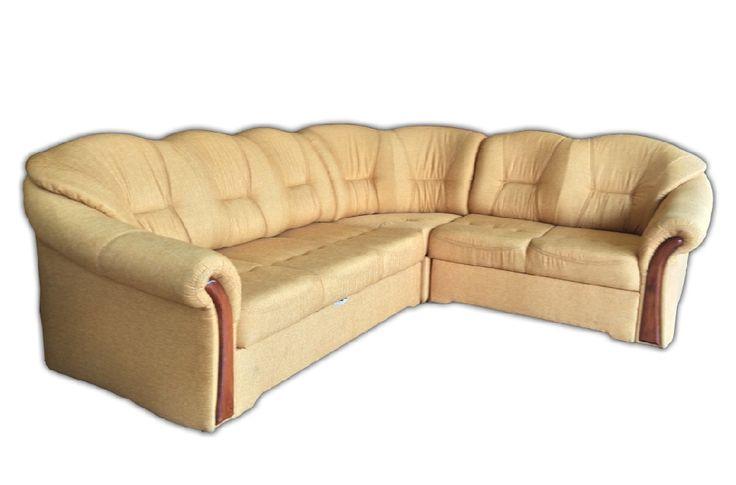 Lokri sarok ülőgarnitúra  Magasság: 90cm, Mélység: 100cm, Külméret: 265 x 225cm  A hosszabbik oldal ágyazható, a rövidebb oldal ágynemű tartós, de rendelhető fix változatban is.  140 cm-es szélességű ággyal
