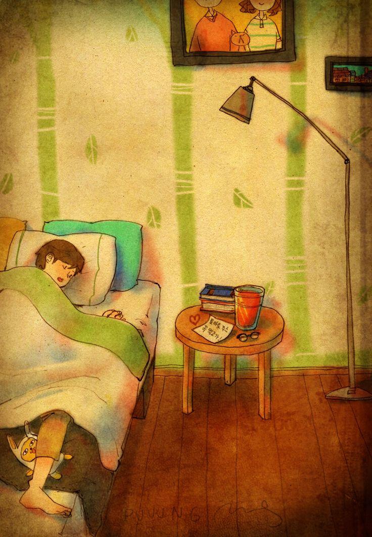 Estas 50 ilustraciones demuestran que el verdadero amor se prueba en los…