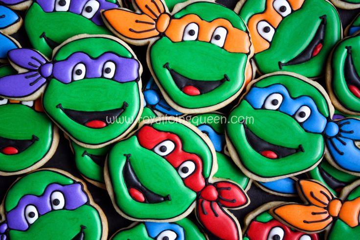Teenage Mutant Ninja Turtle Cookies - The Royal Icing Queen