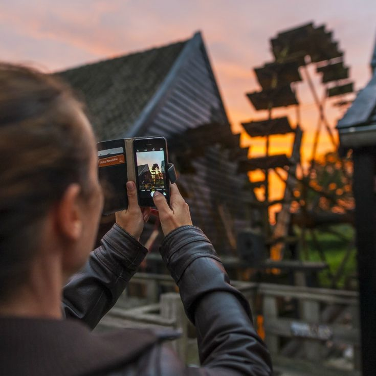 When a watermill and the sunset can be shot in one photograph... You have to take it!