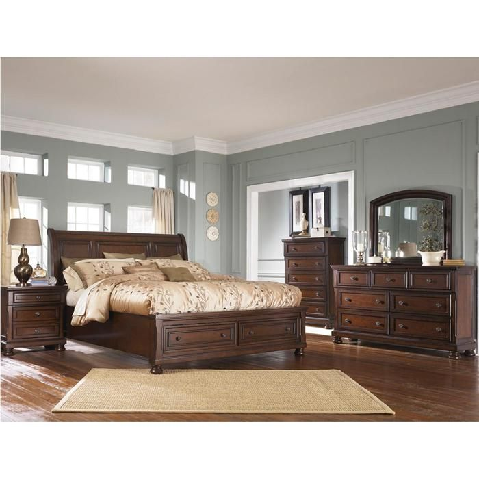 Porter 5-Piece King Bedroom Set In Burnished Brown